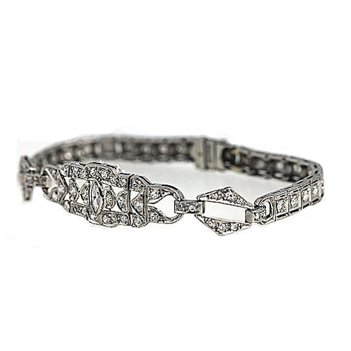 Art Deco Diamond Bracelet Circa 1930's