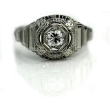 Art Deco Diamond Engagement Ring Circa 1930's