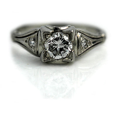 Antique Transitional Cut Diamond Engagement Ring