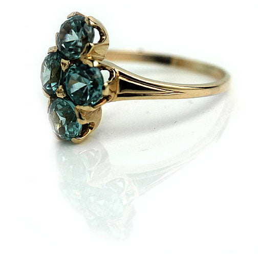 Mid-Century Rose Gold Zircon Dinner Ring