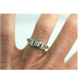Art Deco .15 Carat Diamond Engageemnt Ring