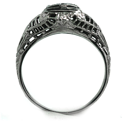 Art Deco Engagement Ring 18 Kt White Gold