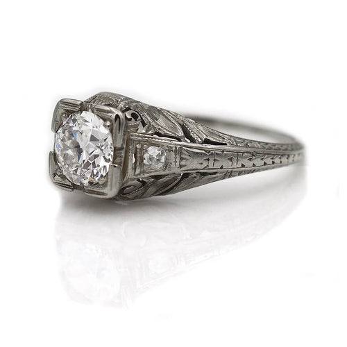 1930's .70 Carat Art Deco Diamond Engagement Ring