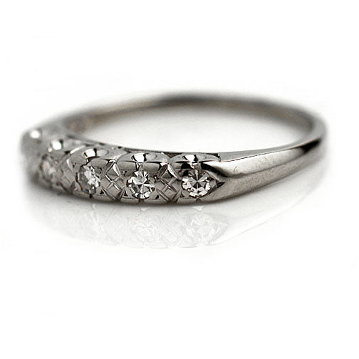 Antique Stackable Diamond Engagement Ring
