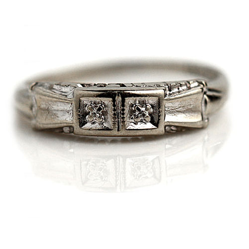 1940's Vintage Diamond Wedding Band