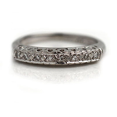 Antique 8 Stone Diamond Wedding Band