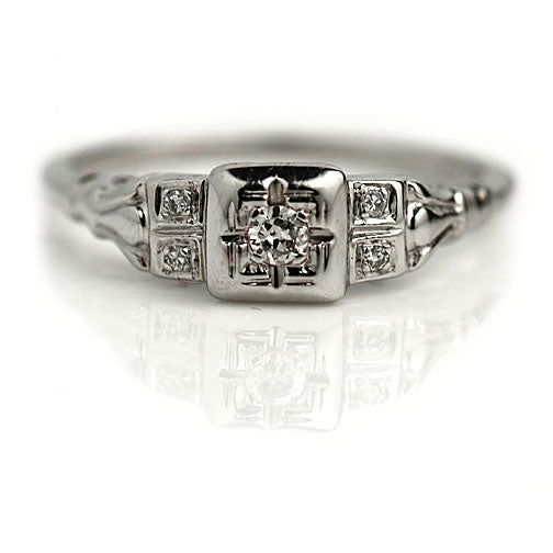 Art Deco Diamond Ring .10 Carat