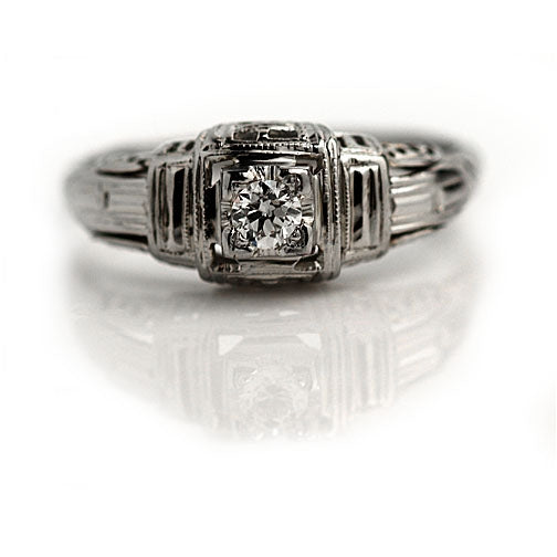 Art Deco .15 Carat Diamond Ring
