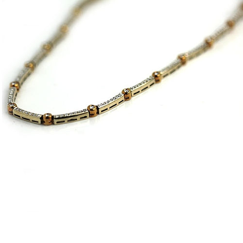 18 Kt Two-Tone Diamond Necklace 4.50 Carat