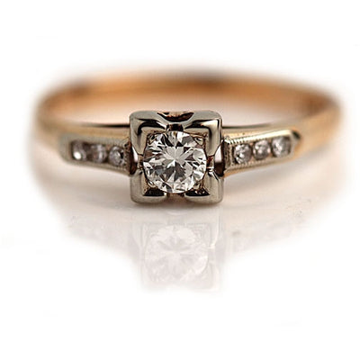 Vintage 1940s Diamond Engagement Ring