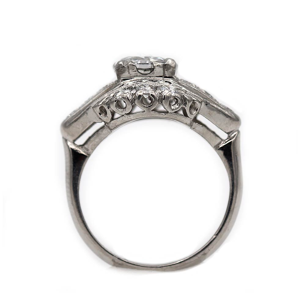 Antique Engagement Ring .95 Carat in Platinum