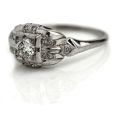 Art Deco Diamond Ring .40 Carat