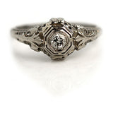 Art Deco Engagement Ring .20 Carat