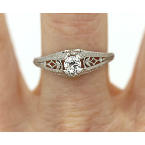 Art Deco Engagement Ring .28 Carat
