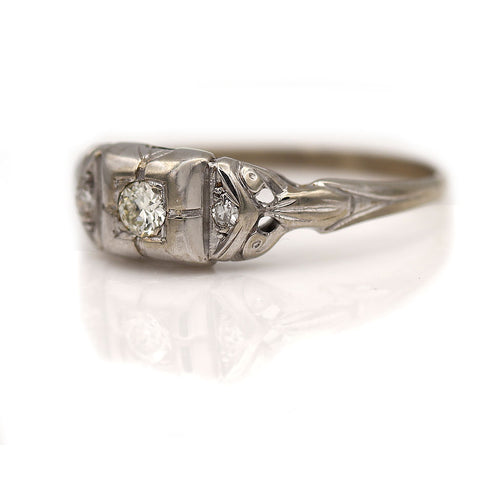 Art Deco Diamond Ring .12 Carat