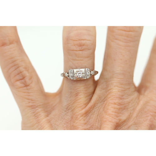 .12 Carat Art Deco Engagement Ring