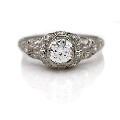 Art Deco Diamond Engagement Ring .40 Carat