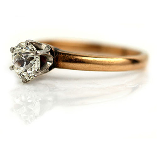 .80 ct Old Mine Cut Diamond Solitaire Engagement Ring
