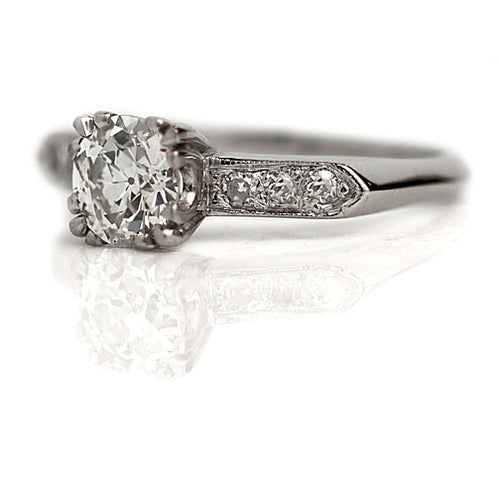 1.05 Carat Vintage Diamond Engagement Ring GIA in Platinum