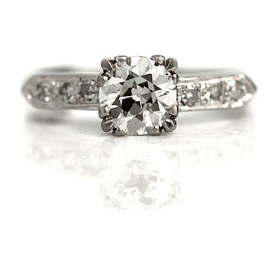 Vintage Prong Set Diamond Engagement Ring