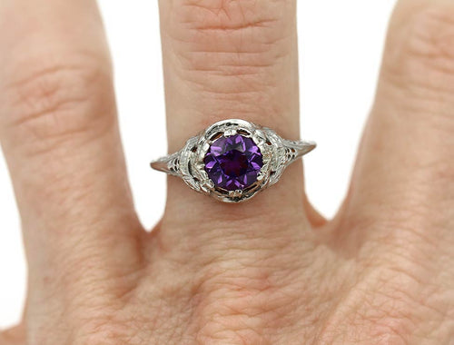 Unique Amethyst Engagement Ring