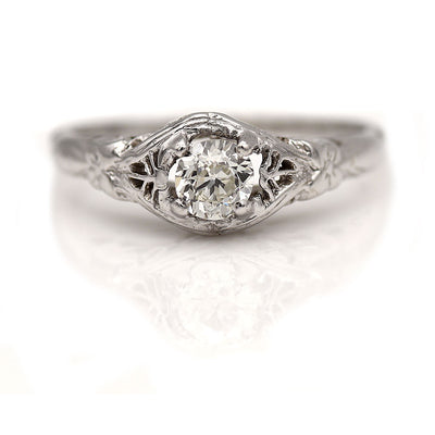 Vintage Prong Set Solitaire Engagement Ring