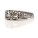 Art Deco .35 Carat Diamond Engagement Ring