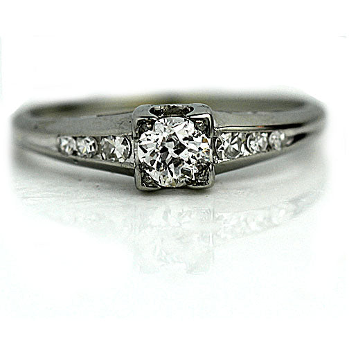 .35 Carat Art Deco Diamond Engagement Ring