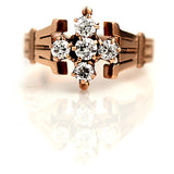 Victorian Diamond Ring in 10 Kt Rose Gold .55 Carat