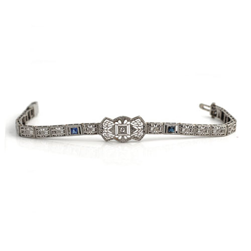 Art Deco Diamond Filigree Bracelet