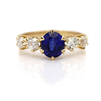 Vintage Inspired Sapphire Wedding Ring