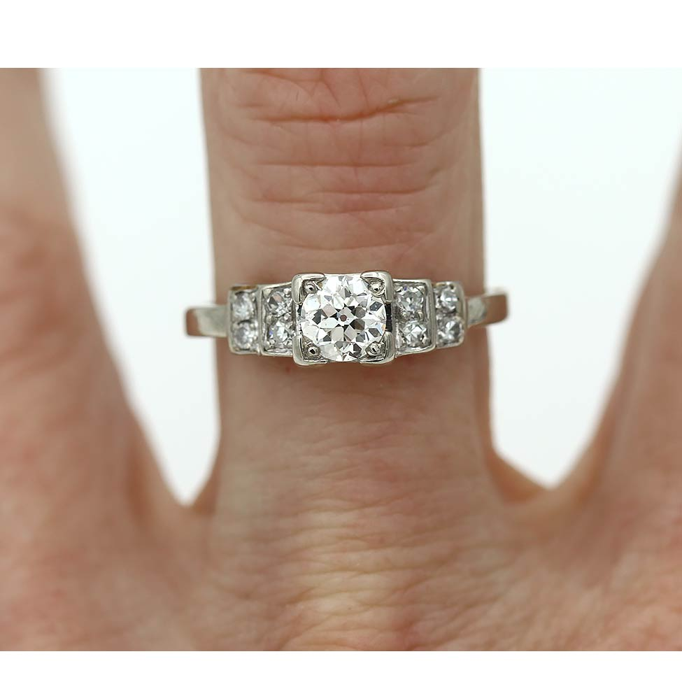 .50 ct Diamond Engagement Ring with Tiered Side Stones