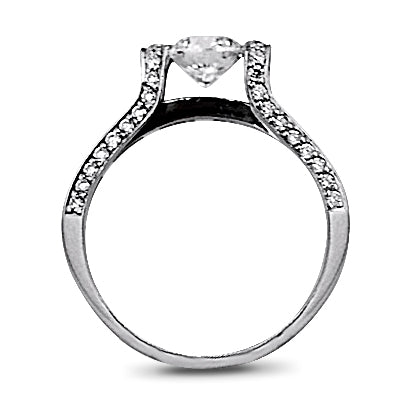 .90 Carat Estate Tension Set Round Diamond Engagement Ring