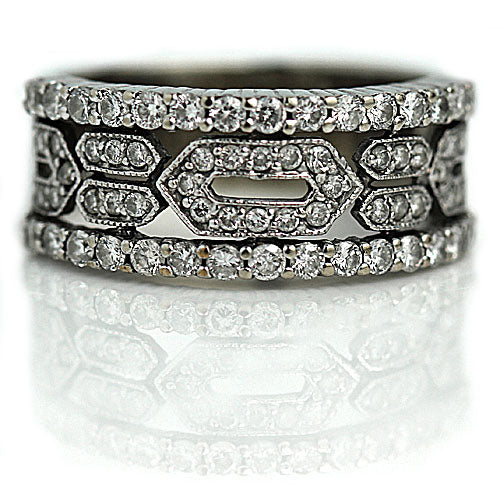 Vintage Diamond Wedding Band Circa 1940's