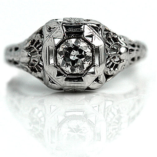 .35 Carat Art Deco Solitaire Engagement Ring