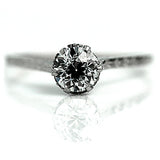 Art Deco Diamond .70 Carat Solitaire Ring