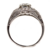 Art Deco 1.48 Carat GIA Diamond Ring GIA K SI1