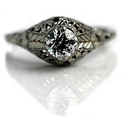 Unique Antique Solitaire Engagement Ring