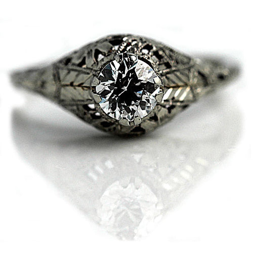 .60 Carat Art Deco Diamond Ring