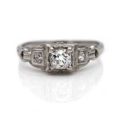 .40 Carat Three Stone Diamond Engagement Ring