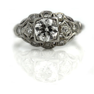Vintage Diamond Engagement Ring in Platinum