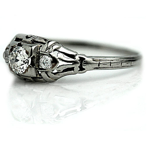 .35 Carat Art Deco Diamond Ring