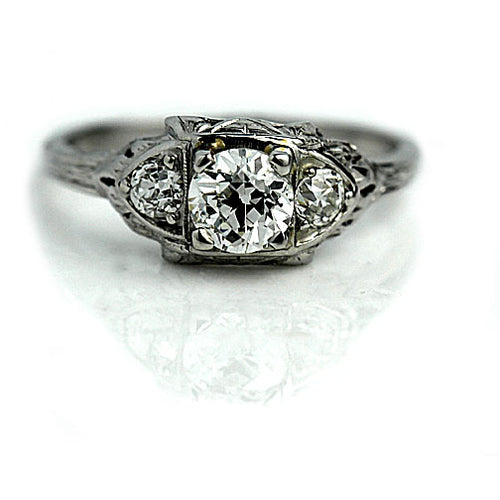 .75 Carat Art Deco Diamond Ring GIA J - SI2