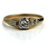 .20 Carat Vintage Solitaire Two-Tone Diamond Ring
