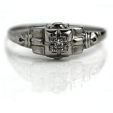 Art Deco Diamond Ring .05 Carat
