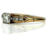 Mid-Century .50 Carat Diamond Engagement Ring