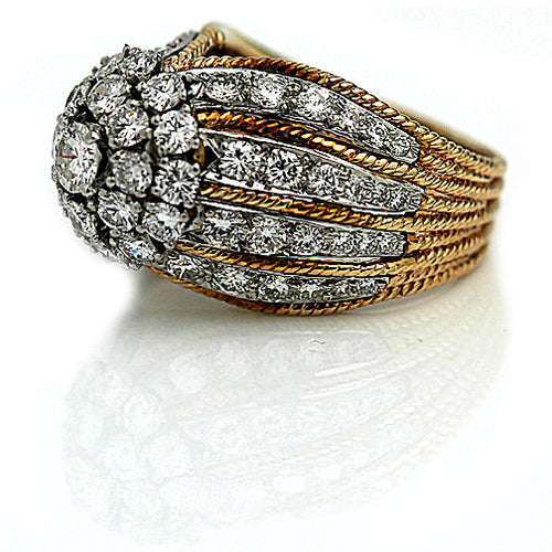 Magnificent 1940's Retro Diamond Ring