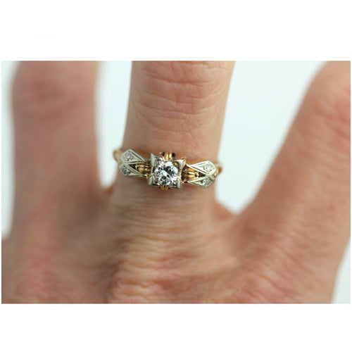 Vintage .30 Carat Diamond Ring