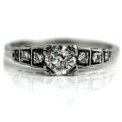 1930s Prong Set Diamond Engagement Ring