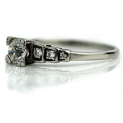 .50 Carat Art Deco Platinum Engagement Ring